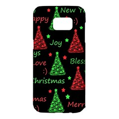 New Year Pattern   Red And Green Samsung Galaxy S7 Edge Hardshell Case