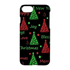 New Year Pattern   Red And Green Apple Iphone 7 Hardshell Case