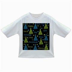 New Year pattern - blue and yellow Infant/Toddler T-Shirts