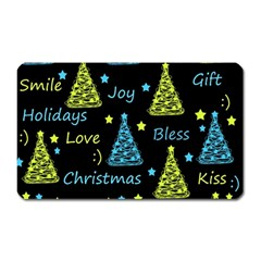 New Year Pattern   Blue And Yellow Magnet (rectangular)