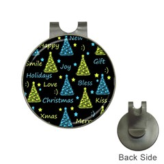 New Year pattern - blue and yellow Hat Clips with Golf Markers