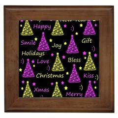 New Year Pattern   Yellow And Purple Framed Tiles