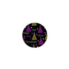New Year Pattern   Yellow And Purple 1  Mini Magnets