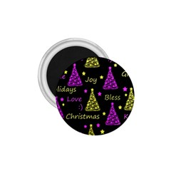 New Year Pattern   Yellow And Purple 1 75  Magnets