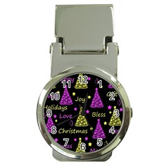 New Year Pattern   Yellow And Purple Money Clip Watches