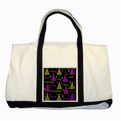New Year Pattern   Yellow And Purple Two Tone Tote Bag