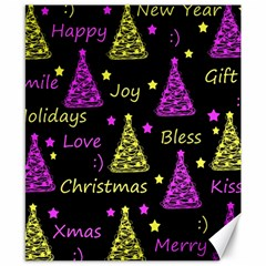 New Year Pattern   Yellow And Purple Canvas 8  X 10