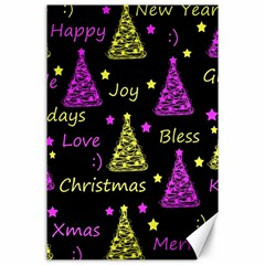 New Year Pattern   Yellow And Purple Canvas 24  X 36