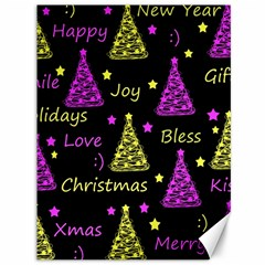New Year Pattern   Yellow And Purple Canvas 36  X 48