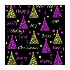 New Year Pattern   Yellow And Purple Medium Glasses Cloth