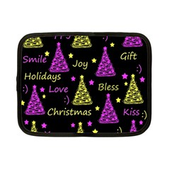 New Year Pattern   Yellow And Purple Netbook Case (small)
