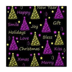 New Year pattern - Yellow and purple Face Towel
