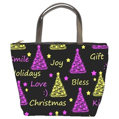 New Year pattern - Yellow and purple Bucket Bags