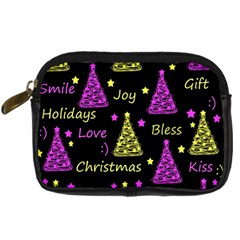 New Year Pattern   Yellow And Purple Digital Camera Cases