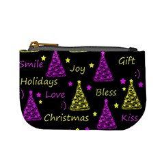 New Year Pattern   Yellow And Purple Mini Coin Purses