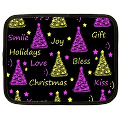 New Year Pattern   Yellow And Purple Netbook Case (xxl)
