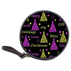 New Year Pattern   Yellow And Purple Classic 20 Cd Wallets