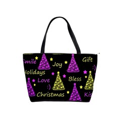 New Year Pattern   Yellow And Purple Shoulder Handbags