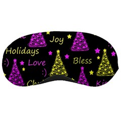 New Year Pattern   Yellow And Purple Sleeping Masks
