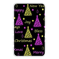 New Year Pattern   Yellow And Purple Memory Card Reader