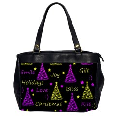 New Year Pattern   Yellow And Purple Office Handbags