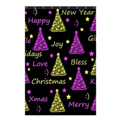 New Year Pattern   Yellow And Purple Shower Curtain 48  X 72  (small)