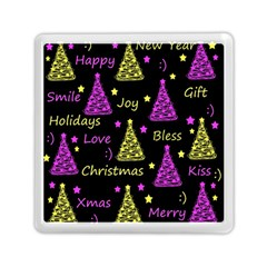 New Year Pattern   Yellow And Purple Memory Card Reader (square)
