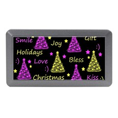 New Year Pattern   Yellow And Purple Memory Card Reader (mini)