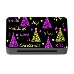 New Year Pattern   Yellow And Purple Memory Card Reader With Cf