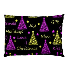 New Year Pattern   Yellow And Purple Pillow Case (two Sides)