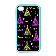 New Year Pattern   Yellow And Purple Apple Iphone 4 Case (color)