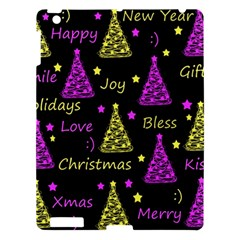 New Year Pattern   Yellow And Purple Apple Ipad 3/4 Hardshell Case