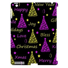 New Year Pattern   Yellow And Purple Apple Ipad 3/4 Hardshell Case (compatible With Smart Cover)