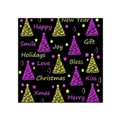 New Year Pattern   Yellow And Purple Acrylic Tangram Puzzle (4  X 4 )