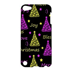 New Year Pattern   Yellow And Purple Apple Ipod Touch 5 Hardshell Case
