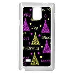 New Year Pattern   Yellow And Purple Samsung Galaxy Note 4 Case (white)