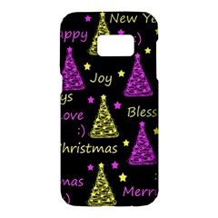 New Year pattern - Yellow and purple Samsung Galaxy S7 Hardshell Case