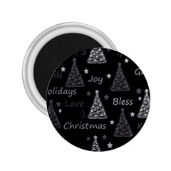 New Year pattern - gray 2.25  Magnets