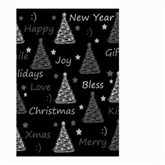 New Year Pattern   Gray Small Garden Flag (two Sides)