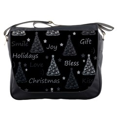 New Year Pattern   Gray Messenger Bags