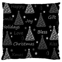 New Year Pattern   Gray Large Cushion Case (one Side)