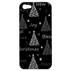 New Year Pattern   Gray Apple Iphone 5 Hardshell Case