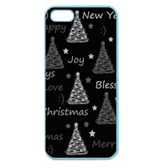 New Year Pattern   Gray Apple Seamless Iphone 5 Case (color)