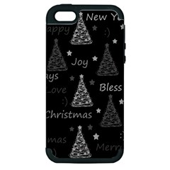 New Year Pattern   Gray Apple Iphone 5 Hardshell Case (pc+silicone)