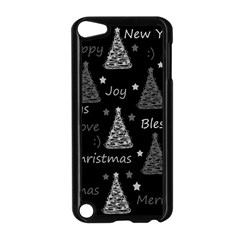 New Year Pattern   Gray Apple Ipod Touch 5 Case (black)