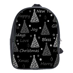 New Year Pattern   Gray School Bags (xl)
