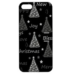 New Year Pattern   Gray Apple Iphone 5 Hardshell Case With Stand