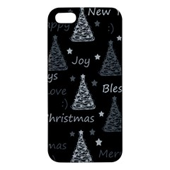 New Year Pattern   Gray Apple Iphone 5 Premium Hardshell Case