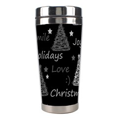 New Year Pattern   Gray Stainless Steel Travel Tumblers