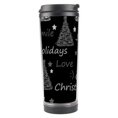 New Year Pattern   Gray Travel Tumbler